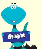 Dinosaur gratulacje royalty ilustracja