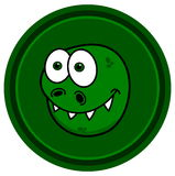 Dinosaur in green icon Stock Photo