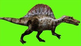 Dinosaur on green screen. GI realistic render stock illustration