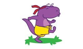 Dinosaur Happy Run Stock Photos