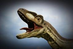 Dinosaur. Head of a large dinosaur stock images