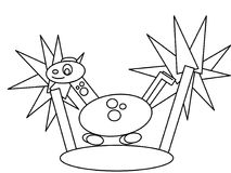 Dinosaur high quality kids coloring pages Stock Photos
