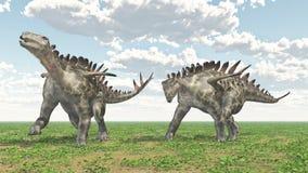 Dinosaur Huayangosaurus Royalty Free Stock Photos