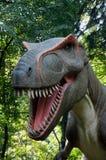 Dinosaur. Huge dinosaur in the forrest stock photo