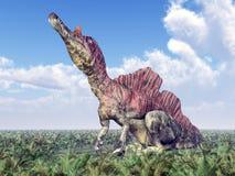 Dinosaur Ichthyovenator Stock Photos
