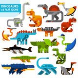 Dinosaur Icons Set Stock Image