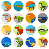 Dinosaur Icons Set Stock Photos