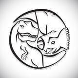 Dinosaur icons Royalty Free Stock Photos