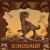 Dinosaur illustration Vector Concept Royalty Free Stock Photo