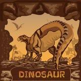 Dinosaur illustration Vector Concept Royalty Free Stock Photography