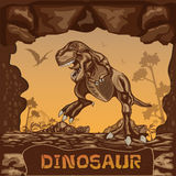 Dinosaur illustration Vector Concept Stock Photography
