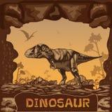 Dinosaur illustration Vector Concept Stock Photos