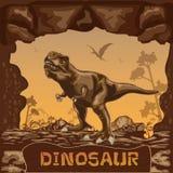 Dinosaur illustration Vector Concept Royalty Free Stock Image