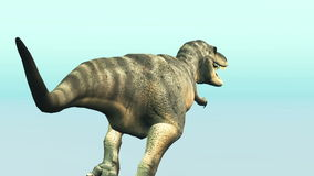 Dinosaur. Image of a dinosaur on white stock footage