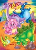 Dinosaur island Stock Photo