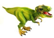 Dinosaur Isolated on white royalty free stock photo
