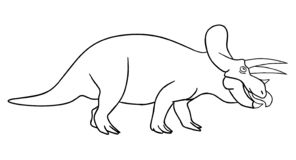 Dinosaur kolorystyki strona zdjęcia stock