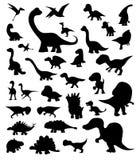 Dinosaur kreskówki sylwetki Wektorowe ilustracja wektor