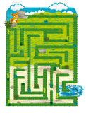 The dinosaur land - game for kids - maze Stock Photography