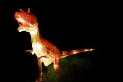 Dinosaur Lantern. Image of a lighted up dinosaur lantern royalty free stock images