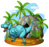 Dinosaur living in the cave Stock Images