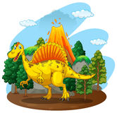 Dinosaur living in the forest Royalty Free Stock Photo