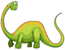 Dinosaur with long neck and tail Royalty Free Stock Photography