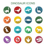 Dinosaur long shadow icons Stock Photo