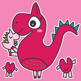 Dinosaur Love Baby Stock Photos