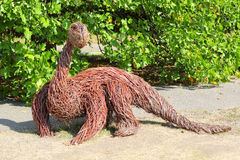 Dinosaur made of dry twigs Royalty Free Stock Photography