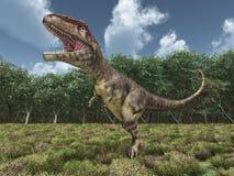 Dinosaur Mapusaurus stock illustration