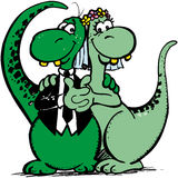 Dinosaur Marriage Stock Photo