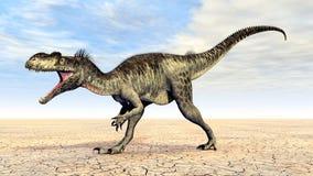 Dinosaur Megalosaurus. Computer generated 3D illustration with the Dinosaur Megalosaurus Stock Photography