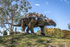 Dinosaur Model in Cretaceous Park of Cal Orcko - Sucre, Bolivia Stock Image
