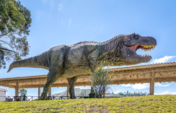 Dinosaur Model in Cretaceous Park of Cal Orcko - Sucre, Bolivia. SUCRE, BOLIVIA - April 25, 2016: Dinosaur Model in Cretaceous Park of Cal Orcko - Sucre, Bolivia stock photos