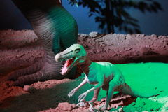 DINOSAUR MODEL. This is a model of prehistorical animal Stock Photo