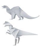 dinosaur modeluje origami Zdjęcie Stock