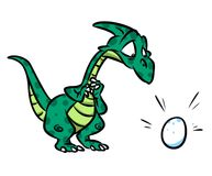 Dinosaur Mom Egg cartoon illustration Stock Photography