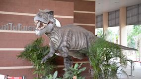 Dinosaur. In the  museum in thailand stock footage
