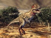Dinosaur Nanotyrannus Stock Photo