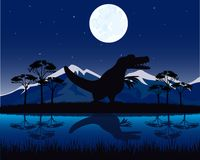 Dinosaur on nature Stock Photography