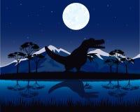 Dinosaur on nature Stock Photography