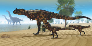 Dinosaur Oasis Stock Images