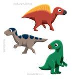 Dinosaur Ornithopods Vector Illustration Stock Photo