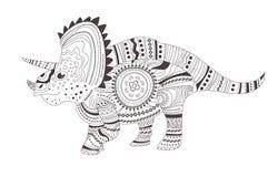 dinosaur Page de coloration Vecteur cartoon Art d'isolement illustration de vecteur