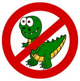 Dinosaur in panel signs Stock Image