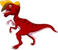 Dinosaur Parasaurolophus cartoon Stock Image