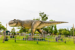 Dinosaur in the park. Royalty Free Stock Image