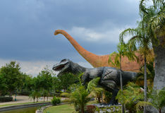 Dinosaur park. Statue Dinosaur  in Dinosaur park thailand Royalty Free Stock Image