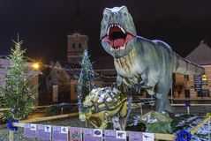 Dinosaur Parkowy Rasnov, Rumunia Obrazy Royalty Free